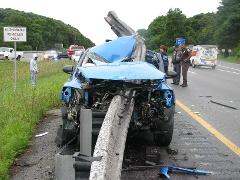 guardrail accident